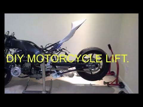 DIY MOTORCYCLE LIFT/JACK FOR UNDER $50.