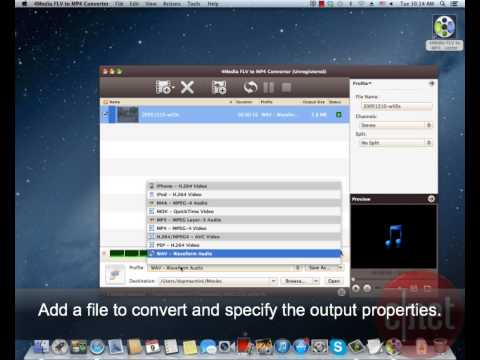 4Media FLV to MP4 Converter - Convert FLV files into MP4s - Download Video Previews