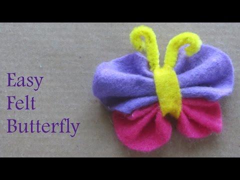 How to Make Felt Butterfly Fun Craft Ideas
