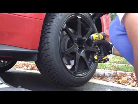 Swapping Summer Tires on 2016 Mustang GT to Winter Tires