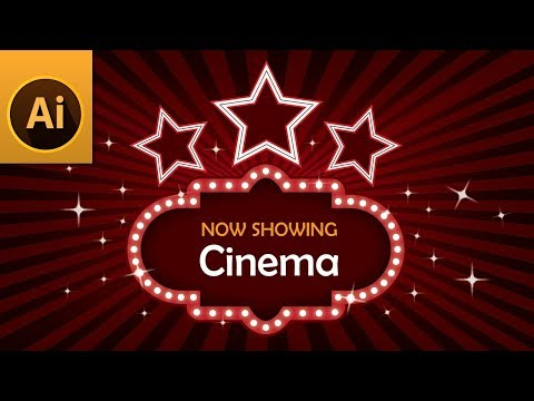 Tutorial: Create a Cinema/Movie/Theater Billboard Sign with Lights in Illustrator