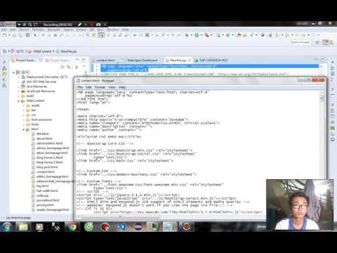 [demo] [convert HTML to JSP file in eclipse]