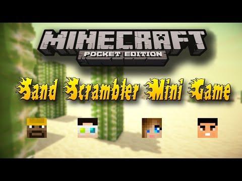Minecraft Pocket Edition Mini Game : Sand Scrambler w/ Friends!