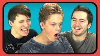 YouTubers React to Try to Watch This Without Laughing or Grinning 2
