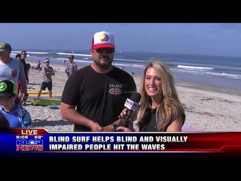 KUSI News Good Morning San Diego Features Blind Surf Event
