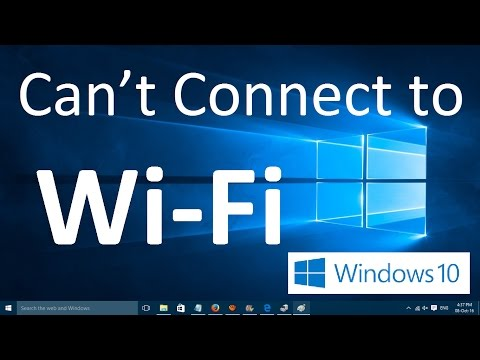 Can't connect to a Wi-Fi network in Windows 10 - Simple Method