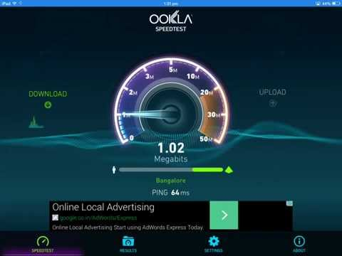 Check Internet Connection Speed on iPad Using Speedtest