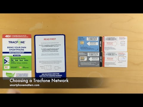 Choosing a Tracfone Network