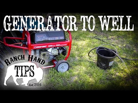 How to run a submersible well pump off a portable generator. - Ranch Hand Tips