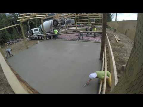 Radiant Floor Heating / Pouring Concrete Slab Time Lapse (GoPro)