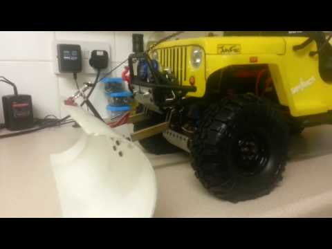 How to build a rc snow plow for SAWBACK