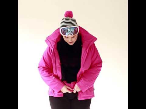 Cartel Brooklyn Womens Plus Size Ski Jacket Magenta