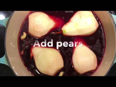For Healthy Home Cooking: Spiced Red Wine Poached Pears