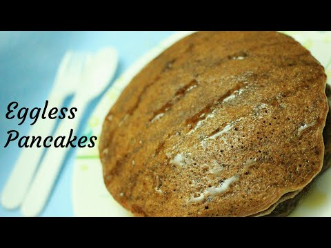 Pancake recipe - Eggless wheat pancake recipe - Pancake recipe without eggs - Fluffy pancakes