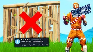 fortnite has disabled building
