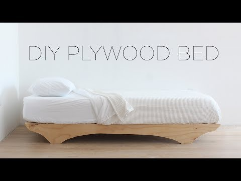 DIY Plywood Bed