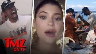 Kylie Jenner Dancing With Travis Scott on Birthday Getaway | TMZ TV