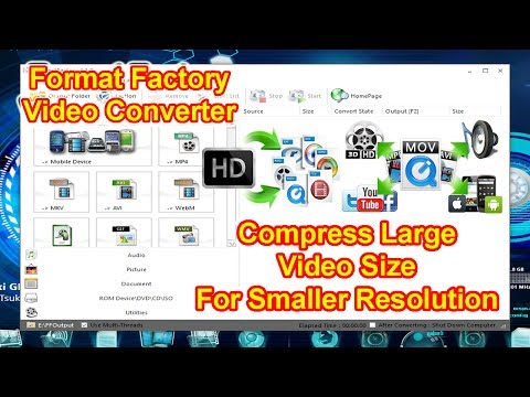 How To Reduce Video Size For Smaller Resolution,Using Format Factory Converter| Compress Large Files