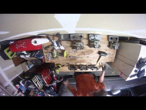 Cleaning Triple Weber Carburetors