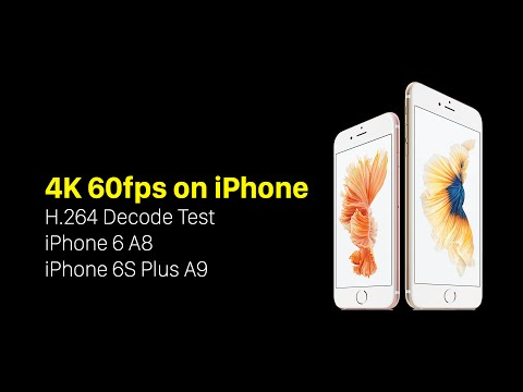iPhone 6S A9 chip 4k (3840x2160) 60fps Playback Test