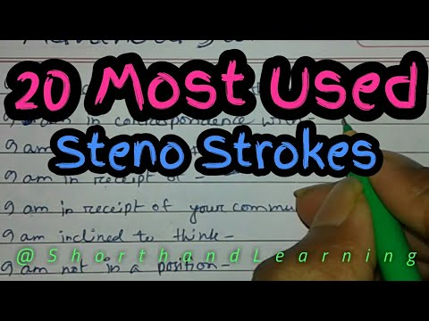 20 most used Advance Steno phrases | Must For Steno Learners-Shorthand Learning