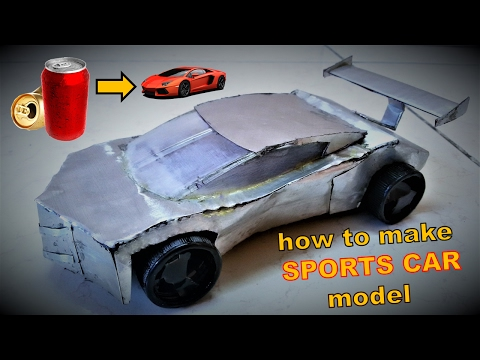 Make a Sports Car model from soda cans