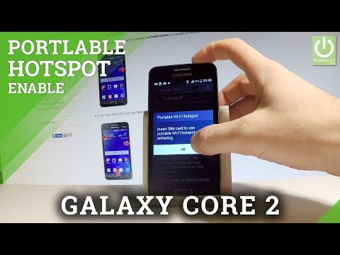 Portable Hotspot SAMSUNG Galaxy Core 2 - Set Up Hotspot