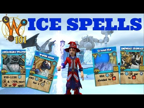 Wizard101: All Ice Spells Level 1-120 (2017)