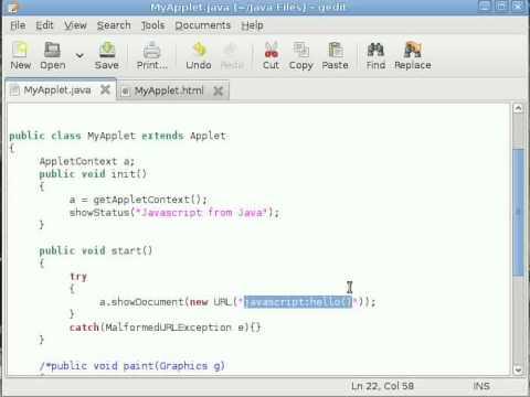 Java Applet Tutorial #8 Calling Javascript