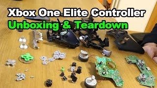 Unboxing Xbox One Elite Controller Disassembly Teardown Repair Fix