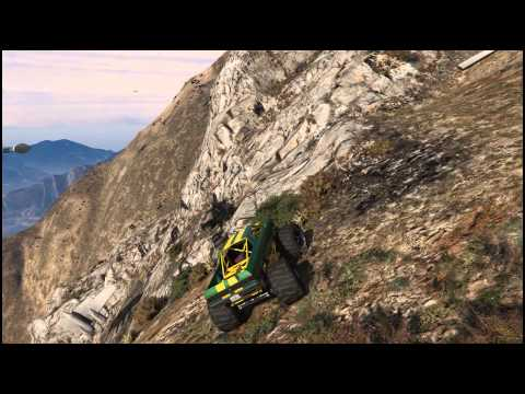 GTA 5 Monster Truck Hill Climb with Angry Planes!