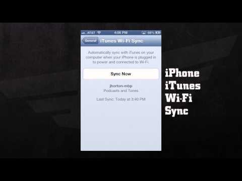 ITUNES WI FI SYNC SETTINGS for iphone