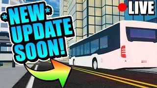 Roblox Vehicle Simulator! NEW UPDATE COUNTDOWN! BUS, HOTROD, & MORE!