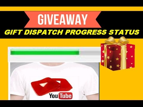 Giveaway Gifts Dispatch & Order Progress Status....