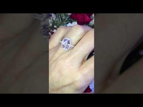 Amazing Pink Morganite Ring, Etsy