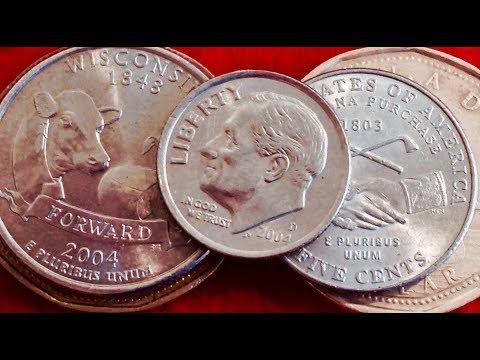 Modern Error Coins: 2004 Dime & Wisconsin State Quarter