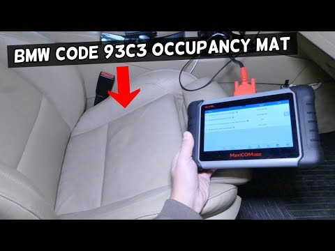 BMW CODE 93C3 SEAT OCCUPANCY DETECTOR MAT FIX AIRBAG LGITH