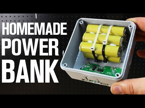 How To Make 12000mAh Homemade Power Bank (with battery level meter)