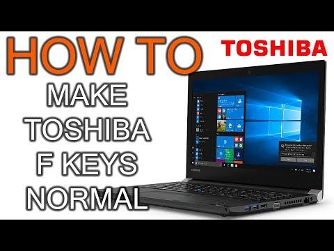 How to Make Toshiba F Keys Normal