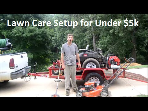 Lawn Care  Equipment Setup for Under $5000