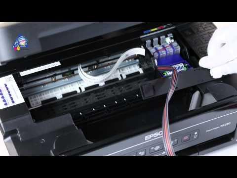 Установка СНПЧ на МФУ Epson Stylus NX230