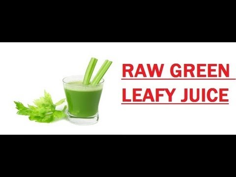 Raw Green Leafy Juice. (Omega Vert 350 HD Juicer)