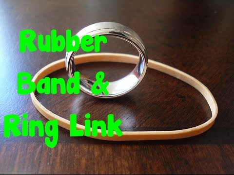How To Do Magic Easy - Rubber Band Ring Link