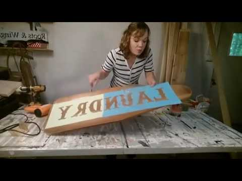 How to use a vinyl sticker to make a sign