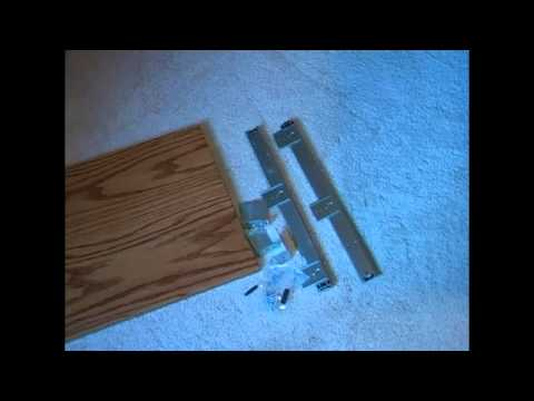 How to Attach the Keyboard Drawer to your Custom Oak Computer Desk