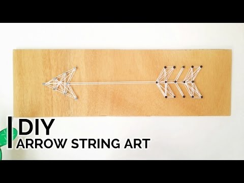 DIY Room Decor | Arrow String Art