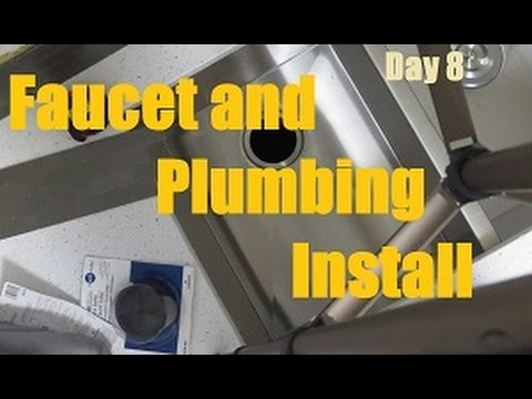 Kitchen Faucet and plumbing install - Day 8   DIY Distress