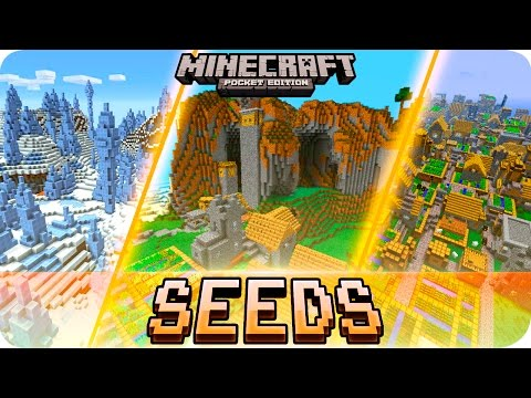 Minecraft PE - TOP 5 SEEDS! Villages, Survival Islands & MORE - MCPE 1.2 / 1.1
