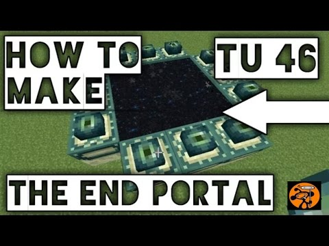 Minecraft: (PS4, Xbox One, Pocket Edition) How to make The End Portal After TU46 Update! 2018