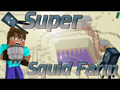 How to make a Squid Farm | Minecraft AFK Squid Farm Ink Farm | Minecraft Lets Build Farm Tutorial
